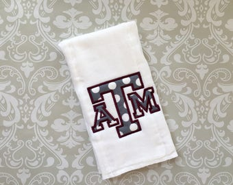 Texas A&M Burp Cloth ABC01