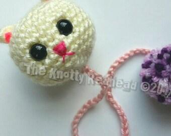 Crochet Cat Bookmark - school crochet - cool bookmark - crochet bookmark - animal bookmark - childrens bookmark - cat lover gift - adorable