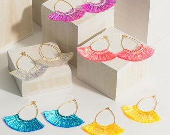 5 color option hypoallergenic mermaid hook earrings