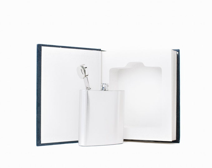 Hollow Book Safe and Hip Flask - The Book of Answers