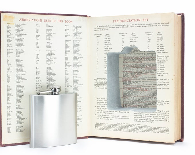 Hollow Book Safe and Hip Flask - Standard College Dictionary- Vintage (1963)