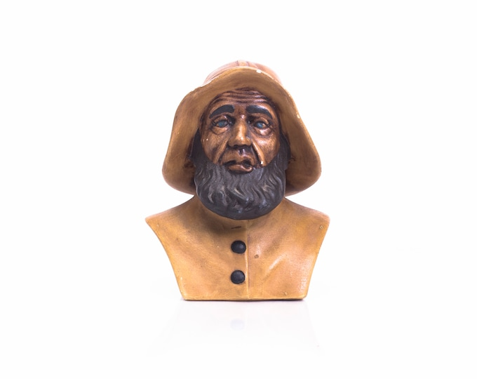 Fisherman Bust Statue - Vintage 1970-80s- Atlantic Mold - Sea Captain - Nautical