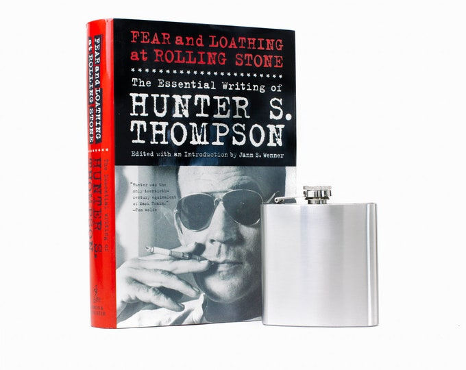 Hollow Book Safe and Whiskey Hip Flask - Hunter S. Thompson