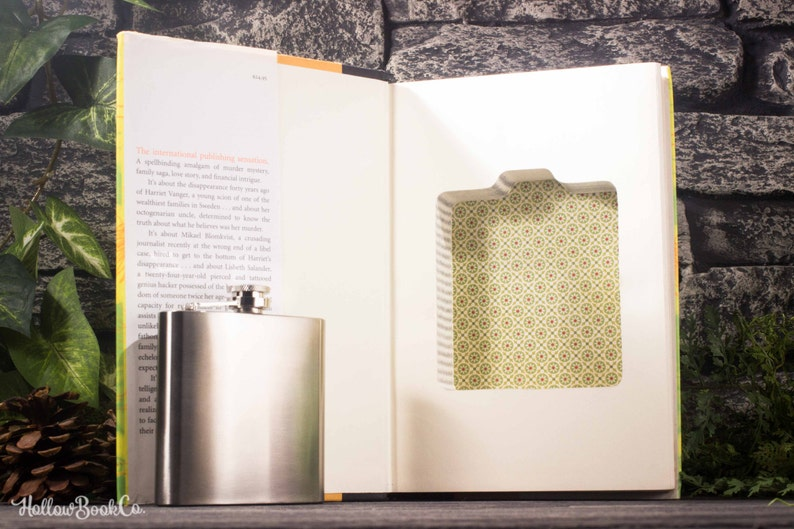 Hollow Book Safe and Hip Flask  The Girl With the Dragon image 0