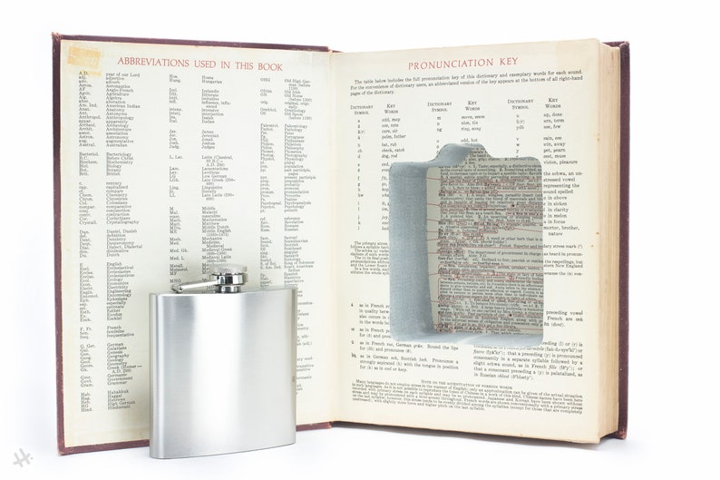 Hollow Book Safe and Hip Flask  Standard College Dictionary image 0
