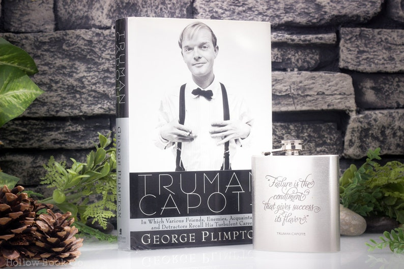 SALE 25% OFF  Hollow Book Safe and Hip Flask  Truman Capote image 0
