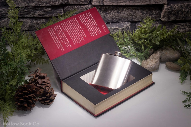 Hollow Book Safe and Hip Flask   Twilight image 0