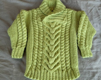Baby's Fisherman Sweater Size 3-6 mos FREE SHIPPING