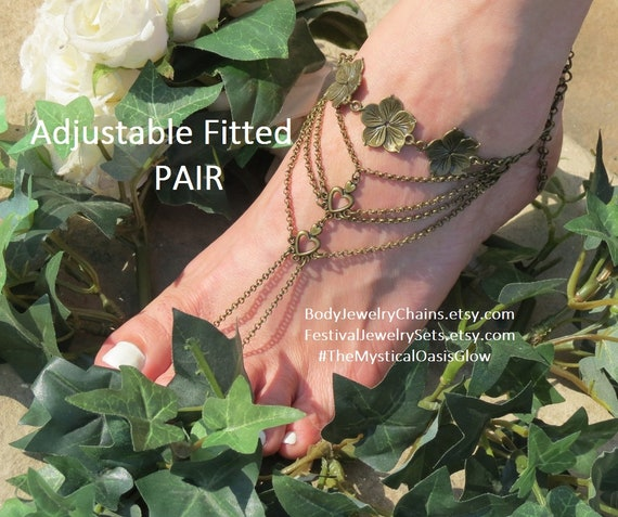 foot bohemian Wedding Barefoot sandals ring Sandals Beach Barefoot bare accessories jewelry foot Beach Sandals toe Wedding Sandals gqqIn7Uz