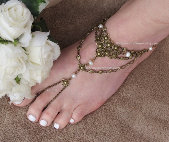 wedding wedding wedding jewelry barefoot Beach foot wedding boho sandals jewelry sandals jewelry anklet foot pearl slave beach beach gZ4qOF