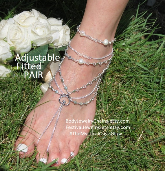 footless Barefoot jewelry Diamond heavy wedding beach shoes beach for Silver sandals nude cozy yet Sandals foot sandles bright Pxd4Xq