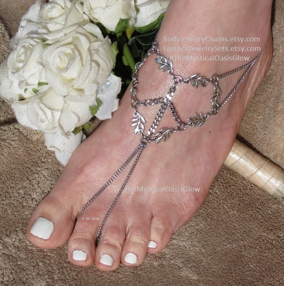 sandals barefoot anklet hippie love jewelry beach sandals anklet wedding Hippie toe and foot rings shoes ring barefoot peace wedding YfRExww