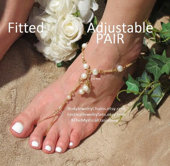 avec en ivoire des perles nus pieds laiton douce plaqu d'eau Sandales aux UqwZ1Bqt