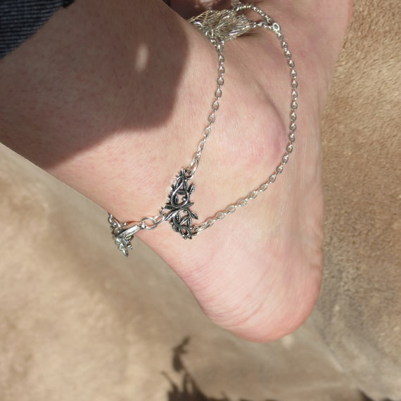 wedding foot Cosplay Chain toe leaf foot jewelry anklet Woodland sandals elven barefoot jewelry ring anklet Elven woodland jewelry czacgU