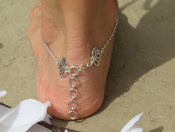 Barefoot jewelry geometry Lotus anklet Sandals jewelry LotusTriangle sacred geometry triangular slave foot Triangle flower for feet dv4AWq