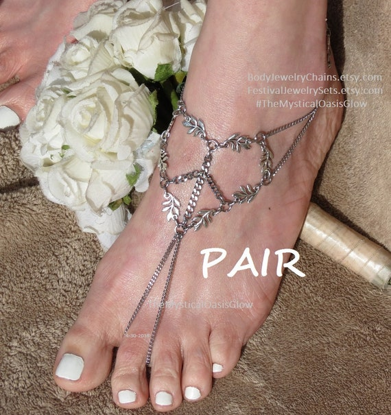 1640a7aab42b4d Barefoot sandals Hippie foot jewelry hippie anklet toe ring