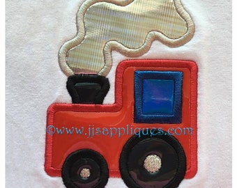 Train Applique Designs - Train Engine digitized embroidery applique design 4x4, 5x7, and 6x10 hoops