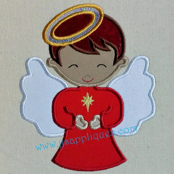 Christmas Angel Boy Sleeps Applique Embroidery Design 4x4 Etsy