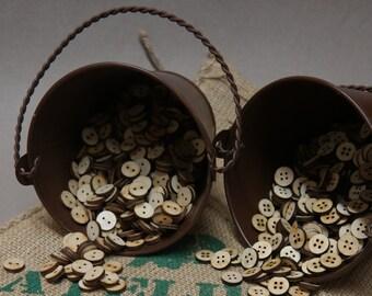 50 boutons en bois - Boutons 14mm brut découper au laser