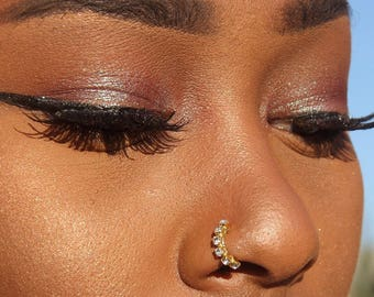 Diamond Nose Ring Etsy