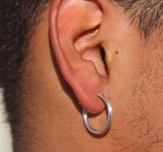 Men Earrings-Men Silver Earrings Hoop Earrings-Silver Hoop Earrings ... ba3cc26f67e5