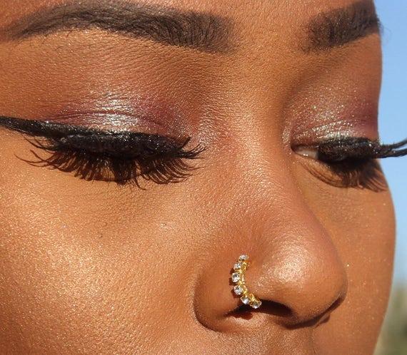 Fake Nose Ring Nose Ring Fake Piercing Faux Nose Ring Fake Etsy