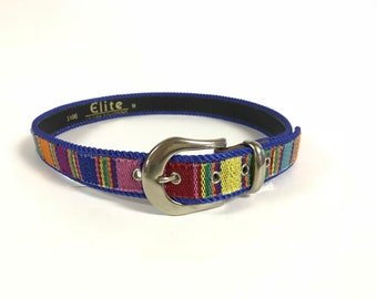 d2234bab7bd02d Vintage 90 s ELITE brand Southwest Style Bold Stripe Belt Size small   medium listing 3051