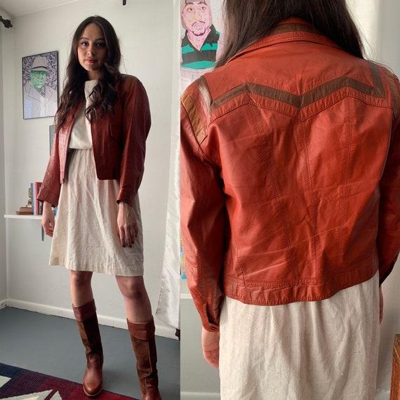 Small/ medium vintage 70's Pioneer Wear Burnt oran