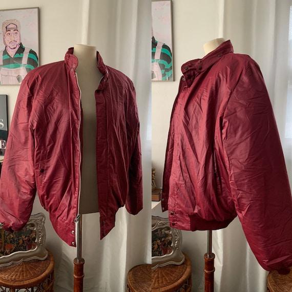 Large / XL vintage 80's Maroon bomber jacket