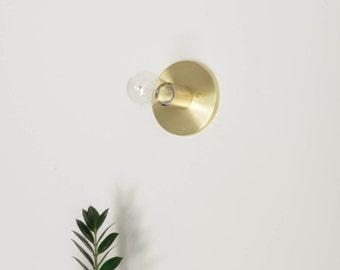 Modern Brass Flush Mount Sconce Light  CLEO • READY to ship • UL Listed