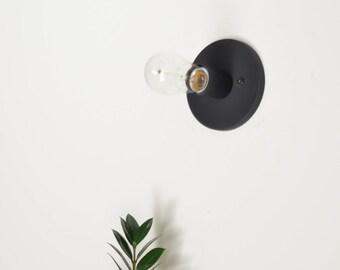 Modern Black Flush Mount Light CLEO • READY to ship • UL Listed