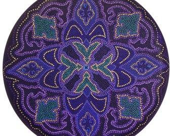 Amethyst Bliss Mandala-  Original Acrylic on canvas