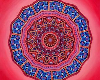 She Opens - Mandala-  archival print on photo paper