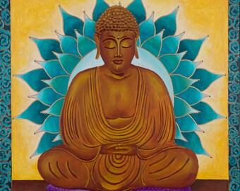 Serene Buddha Mandala-  archival print on photo paper