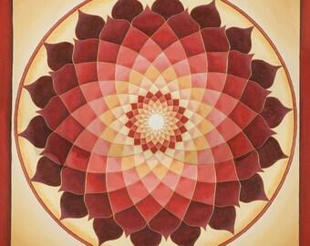 Flower of Life  Mandala- Print on Archival Paper