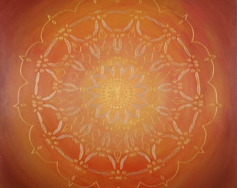 Fire in the Belly Mandala-  archival print on photo paper