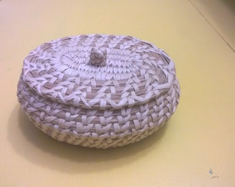 Papago Basket w Lid Collectable 80s