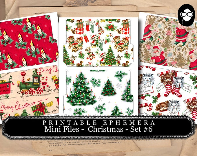 Christmas Clipart - Mini Folder Files - Christmas #6 - 3 Pg Instant Download - clipart christmas, clip art christmas, tsunamirose