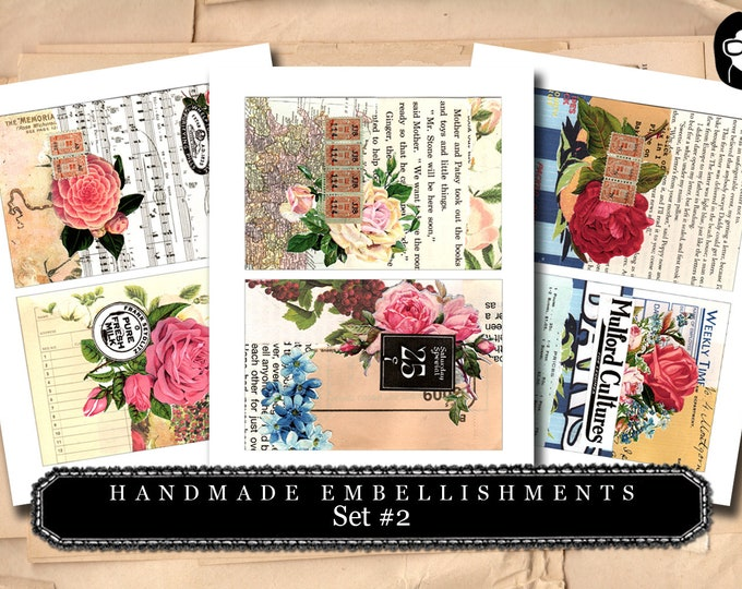 Handmade Embellishments - Set #2 - 3 Page Instant Download