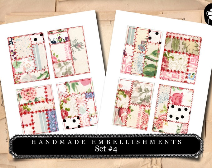 Handmade Embellishments - Set #4 - 2 Page Instant Download