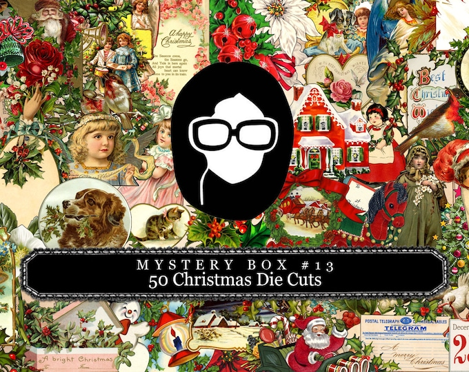 Mystery Box #13 -  50 Christmas Die Cuts - LIMITED QUANTITIES