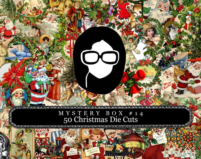 Mystery Box #14 -  50 Christmas Die Cuts - LIMITED QUANTITIES