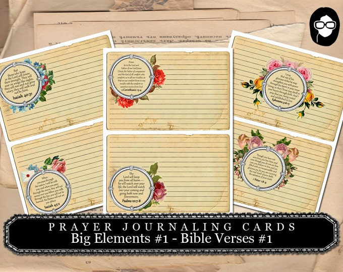 Printable Verses - Big Elements #1 - Bible Verses #1 - 3  Page Instant Download - bible verses diy, prayer journaling, scripture printable