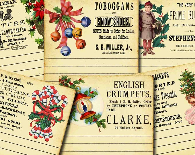 Ephemera Kit - Big Elements #2 Christmas #2 - 3 Page Instant Download -  christmas clip art, clipart christmas, digital journal card
