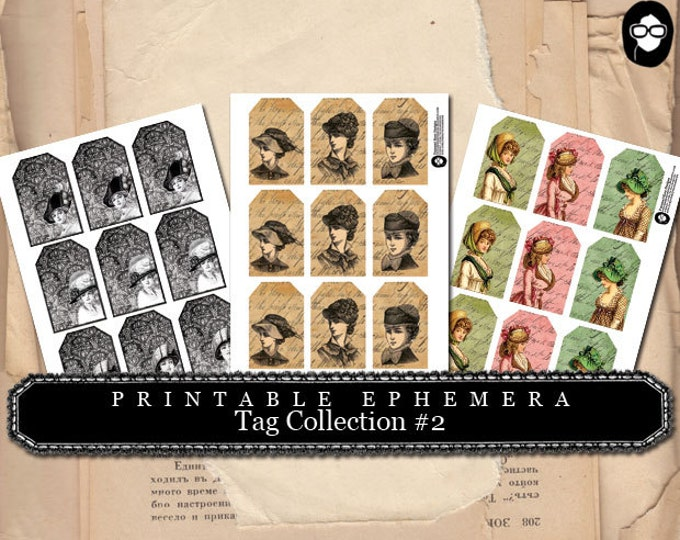Tag Collection#2- (3) Page INSTANT DOWNLOAD