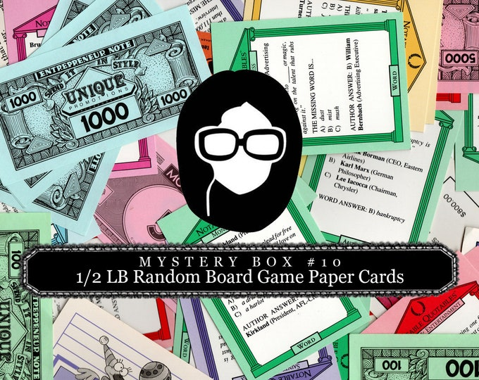 Mystery Box #9 -  1/2 LB Random Board Game Paper Cards - LIMITED QUANTITIES