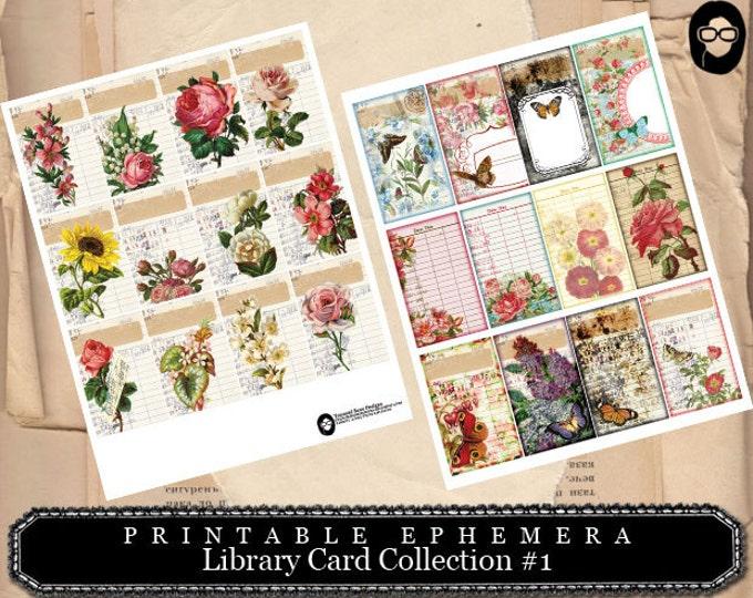 Cottage Roses Journal Card Printable Ephemera Telegrams Junk Journal Accessory Altered Telegrams Printable Printable TELEGRAMS
