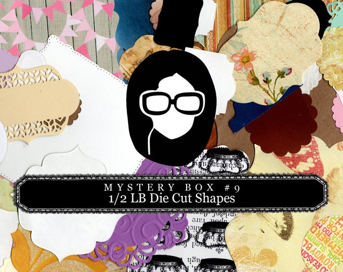 Mystery Box #9 -  1/2 LB of Die Cut Shapes - LIMITED QUANTITIES