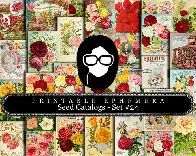 Ephemera Pack - Printable Ephemera Set #24 - Seed Catalogs - 30 Page Instant Download - junk journal kit, journal cards, ephemera paper pack