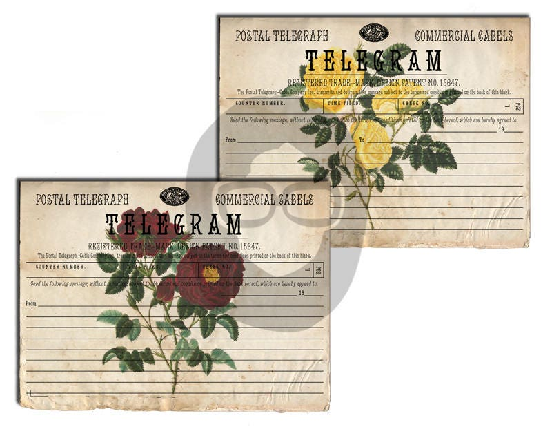 Bouquet Clipart - Telegram - Roses #1 - 2 Page Instant Download